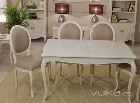foto mesa de comedor extensible paris vintage blanco roto