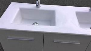 Meuble salle de bain design contemporain 130cm avec for Salle de bain design avec meuble colonne de salle de bain