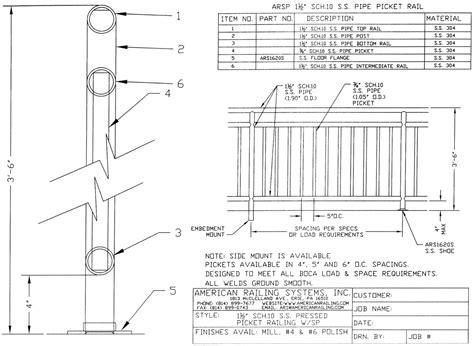 Handrail Details Dwg   Mungfali