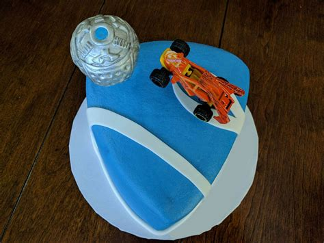 surprise birthday cake   wife rocketleague