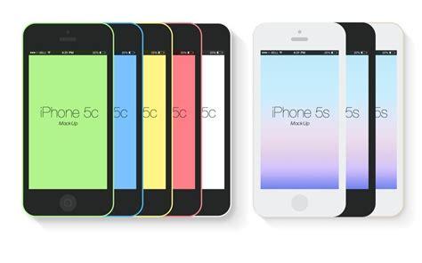 iphone 5c free free flat iphone 5s 5c mockup templates psd titanui