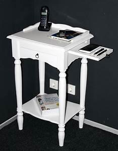 Telefontisch Weiß Hochglanz : massivholz konsolentisch telefontisch beistelltisch 81x49 holz massiv wei lackiert ~ Markanthonyermac.com Haus und Dekorationen
