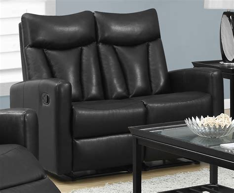 Bonded Leather Loveseat by 87bk 2 Black Bonded Leather Reclining Loveseat From