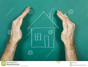 Drawing House On Chalkboard Stock Image - Image: 46361435