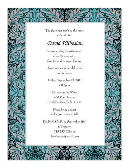 retirement party invitations templates print