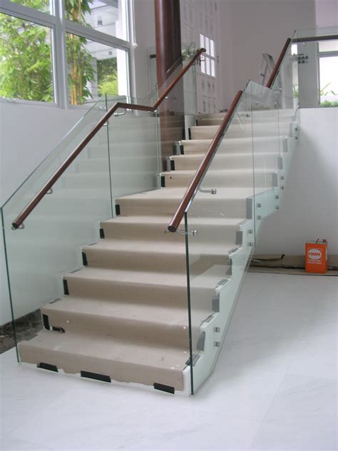 Glass Banisters by 2014 Railing At Landing