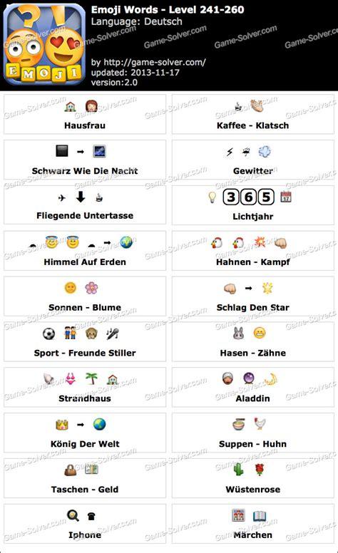 emoji words deutsch level   game solver