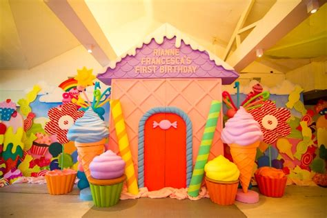 Celebration Decorations by Rianne S Candyland Themed Party 1st Birthday Party
