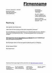 Rechnung Ins Ausland : kleinunternehmer rechnung rechnungsvorlagen f r ~ Themetempest.com Abrechnung