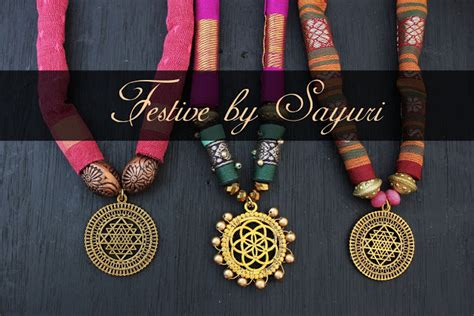 festive collection fabric jewelry jewels  sayuri