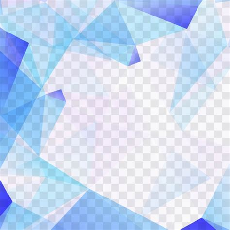 Abstract Geometric Shapes Transparent Background by Blue Polygonal Shapes On Transparent Background Vector