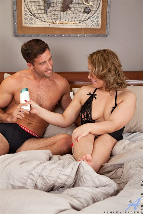 Milf Ashley Rider Takes A Virile Young Stud To Bed Of