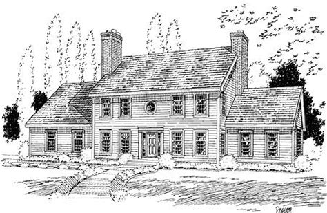 classic colonial house plan tm  floor master