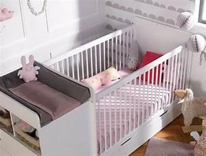 Chambre bebe evolutive malte blanc avec tiroir et matelas for Luminaire chambre enfant avec matelas babychou