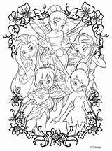 Coloring Crayola Fairies Disney sketch template