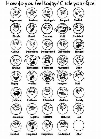 Feel Today Faces Feeling Printable Worksheet Emotions