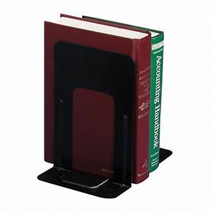Oic, Nonskid, Steel, Bookend, -, Black, -, 1, Pair