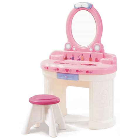 little girls makeup table per and care combo step2