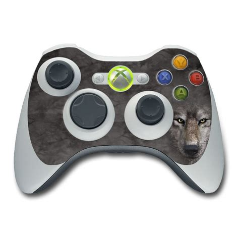 Xbox 360 Controller Skin Grey Wolf By The Mountain