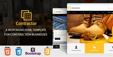 Simple Construction Html Template by Contractor Construction Building Html Template By