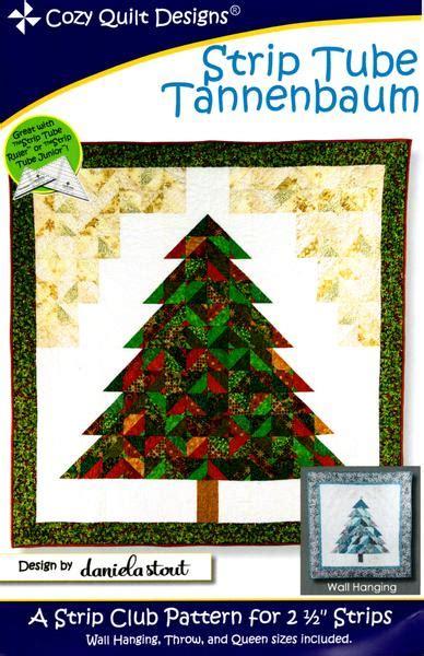 cozy quilt design pattern strip tube tannenbaum jordan