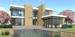 Modern, Home, With, Large, Windows, 3, Bedrooms, Tyree, House, Plans