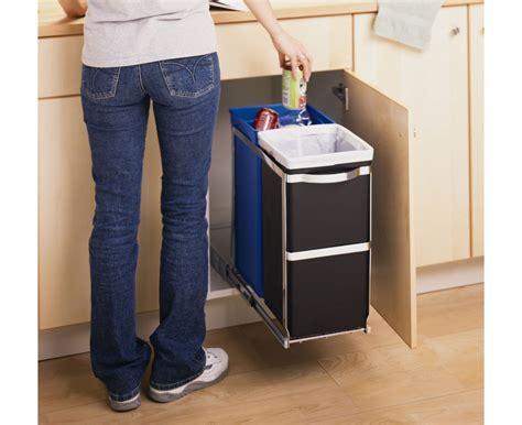 under sink garbage pull out simplehuman 35l pull out trash can recycler