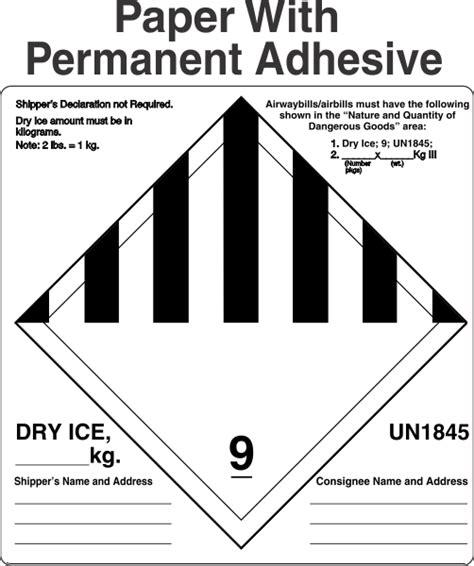 fedex dry ice label   creative label