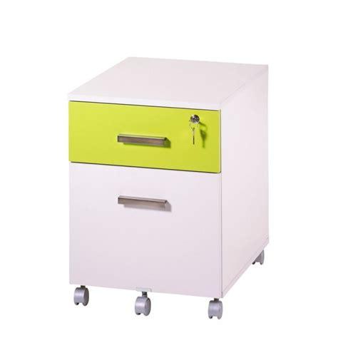 plumier de bureau caisson de bureau 2 tiroirs ineo blanc anis avec plumier