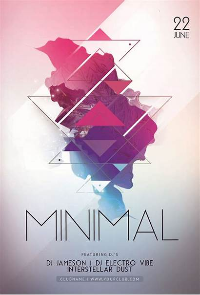 Flyer Poster Minimal Template Party Posters Behance