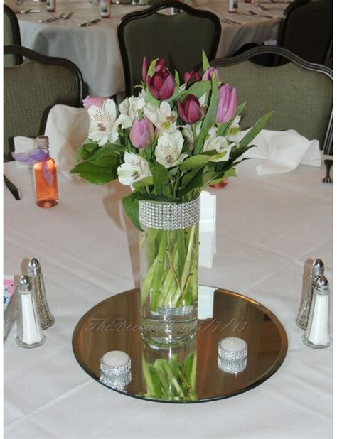 Glass Vase Centerpiece Ideas by Glass Cylinder Vases Bling Wedding Centerpieces Silver