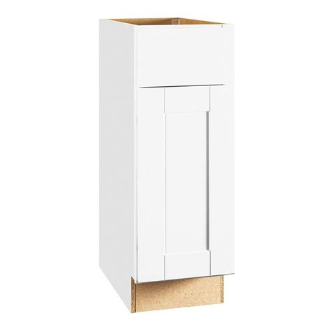 Cabinet Drawer Glides by Hton Bay Shaker Assembled 12x34 5x24 In Base Kitchen