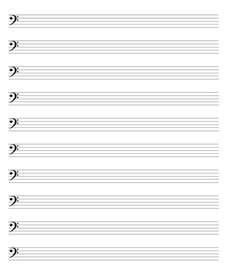 Blank Sheet Music with Bass Clef