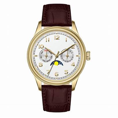 Wrist Watches Luxury Steel Stainless Moon Phase