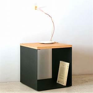 Table De Chevet Cube : table de chevet cube table chevet osier nostraberus ~ Teatrodelosmanantiales.com Idées de Décoration