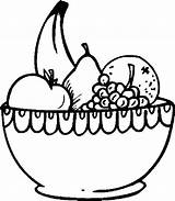 Fruit Bowl Coloring Basket Clipart Pages Printable Drawing Salad Fruits Colouring Baskets Rice Drawings Easy Sheets Getdrawings Flower sketch template