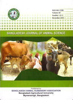 bangladesh journal  animal science