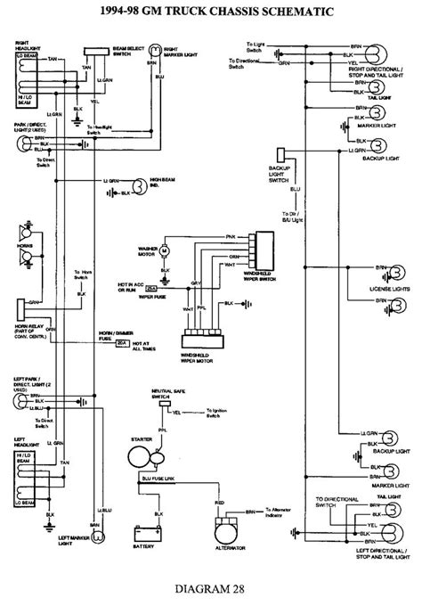 Charging System Wiring Diagram For 1998 Jeep Wrangler by 1998 Chevrolet Truck K2500hd 3 4 Ton P U 4wd 6 5l Turbo