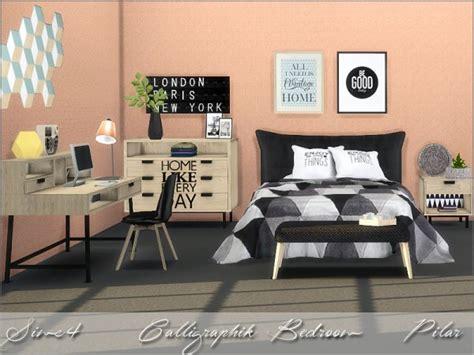 Calligraphik Bedroom By Pilar • Sims 4 Downloads