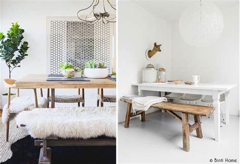 banc de cuisine en bois un banc dans la maison mademoiselle claudine le