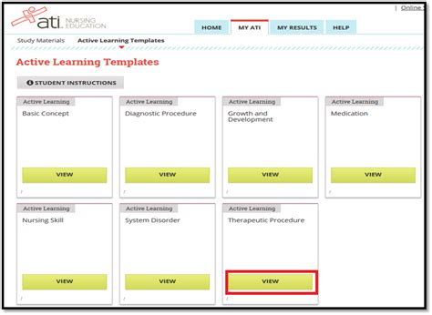ati active learning template q i need help accessing my remediation templates in ati answers