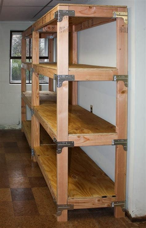 diy  shelving unit diy storage shelves garage