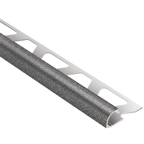 schluter rondec pewter textured color coated aluminum 1 2