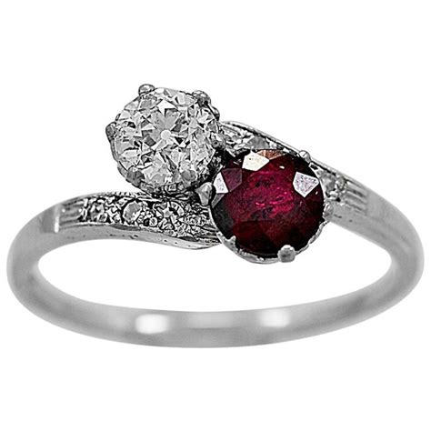 ruby gold engagement ring at 1stdibs