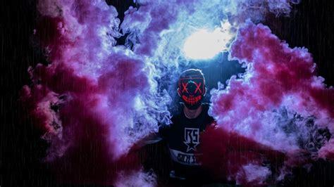 man mask colored smoke anonymous   hd wallpapers hd