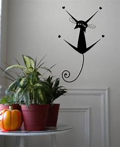 hanging cat wall decals trading phrases With cat wall decals