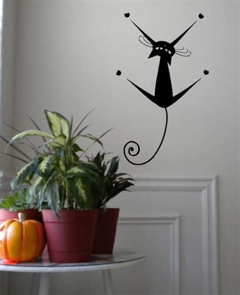 Hanging Cat   Wall Decals   Trading Phrases