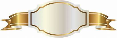 Ribbon Banner Scroll Golden Transparent Label Nicepng