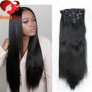 Cheap Silky Straight Remy Human Hair Clip In Extensions