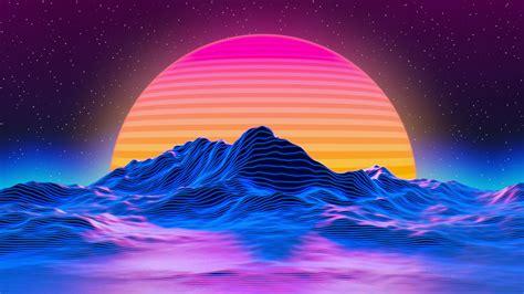 outrun vaporwave 2k wallpaper hdwallpaper desktop